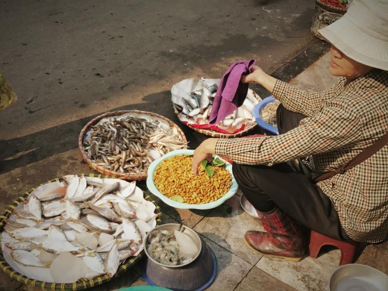 Vietnam Hanoi old market