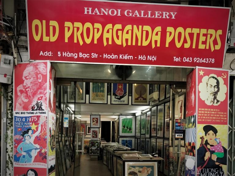Vietnam Hanoi old propaganda Posters