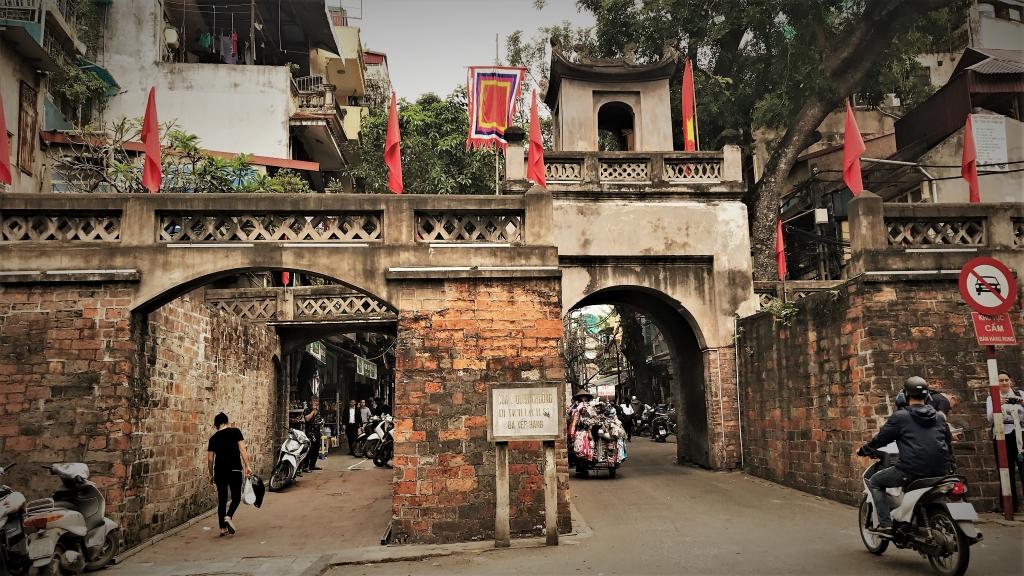 Vietnam Hanoi old quarter entrance